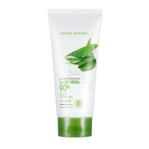 NATURE REPUBLIC Sooting&Moisture  Крем для тела с 90% экстрактом Алоэ Вера Дубль